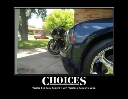 When the sun shines two wheels always win!